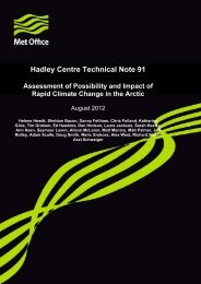 Hadley Centre Technical Note 91 - Met Office
