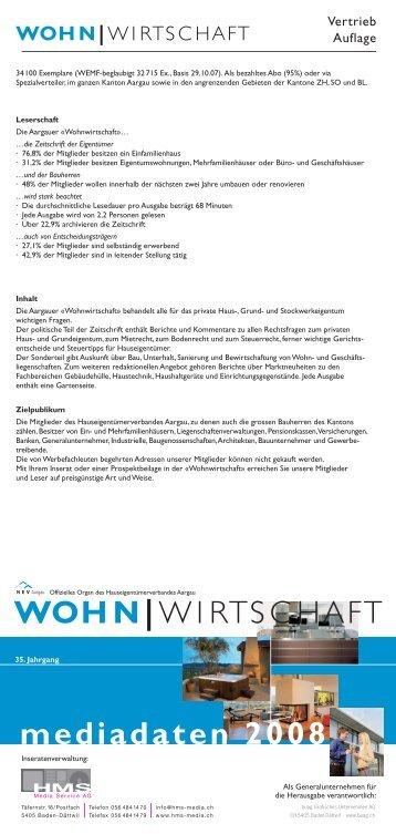 mediadaten 2008 WOHN|WIRTSCHAFT - HMS Media Service AG