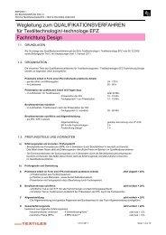 Wegleitung QV Fachrichtung Design