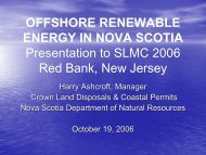 OFFSHORE RENEWABLE ENERGY IN NOVA SCOTIA Presentation ...