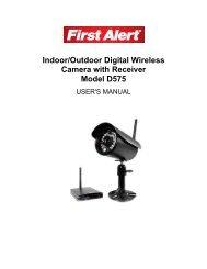 Indoor/Outdoor Digital Wireless Camera with Receiver ... - First Alert