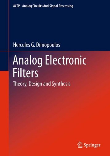 Analog Electronic Filters - Theory, Design and - Index of