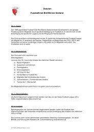 Statuten des FC Biel/Bienne Seeland