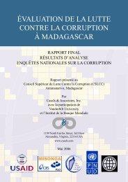 évaluation de la lutte contre la corruption à madagascar