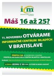 Leták k otvoreniu ICM v Bratislave - Informačné centrum mladých