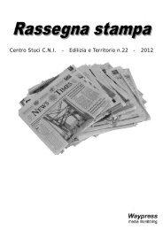 Centro Stuci C.N.I. - Edilizia e Territorio n.22 - 2012