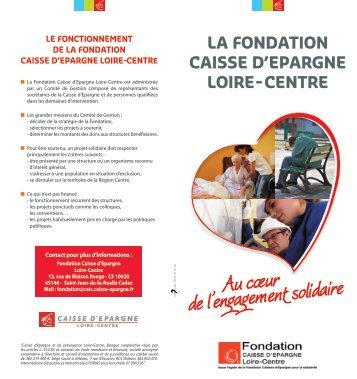 Au cœur de l'engagement solidaire - Fondation Caisses d'Epargne ...