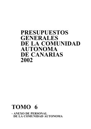 Anexo de Personal - Gobierno de Canarias
