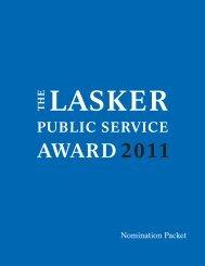 Lasker_Interactive Public Service Nom'11.indd - The Lasker ...