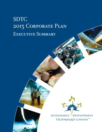 SDTC 2013 Corporate Plan - Executive Summary