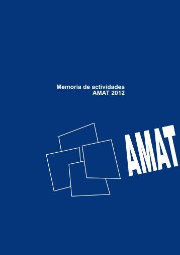 Memoria de actividades AMAT 2012
