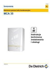 Instrukcja techniczna MCA 35 - De Dietrich