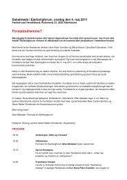 Programskitse Ejerboligforum 4 maj 2011. Endelig version til pdf ...