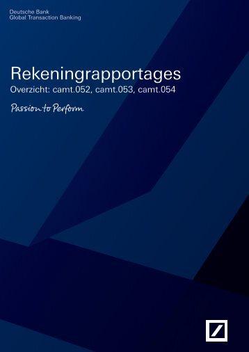SEPA CAMT Rekeningrapportages - Deutsche Bank