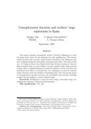 Unemployment duration and workers' wage aspirations in Spain