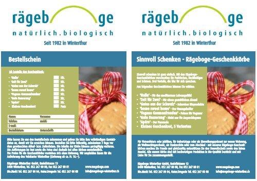 Rägeboge-Geschenkkörbe - Rägeboge Winterthur GmbH