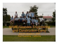 SAME/Seabees Engineering and Construction Camp