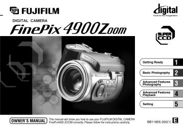 FinePix 4900Zoom OWNER'S MANUAL