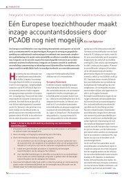 Eén Europese toezichthouder maakt inzage accountantsdossiers ...