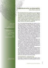 Projektbeskrivelse og delprojekter - Krimi Forskning