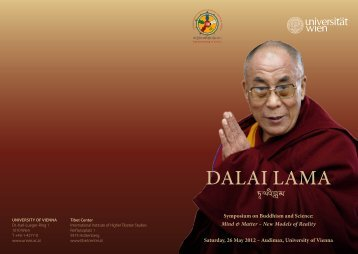 Dalai lama - Universität Wien Medienportal