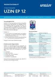 Produktdatenblattes - UZIN