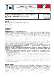 Rapport scientifique - Steel Structures Laboratory (ICOM) - EPFL