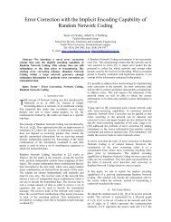 Error Correction with the Implicit Encoding Capability of ... - satnac