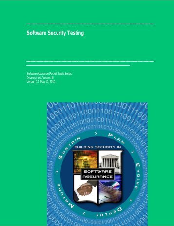 Risked Based Software Security Testing - Build Security In - US-CERT
