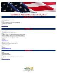 GWINNETT WEEKENDS - May 25-28, 2012