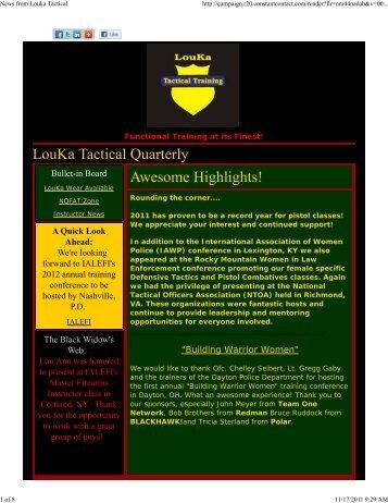 News from Louka Tactical - LouKa Tactical Training, LLC