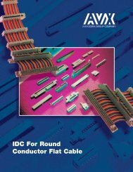 IDC Connectors for Round Conductor Flat Cable - AVX