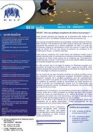 Numéro 189 – 28/02/2013 - La Représentation des Institutions ...