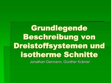 Grundlegende Beschreibung von Dreistoffsystemen und isotherme ...