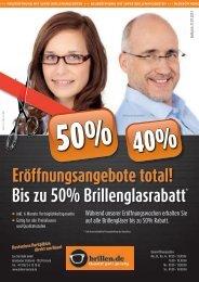 Bis zu 50% Brillenglasrabatt* Eröffnungsangebote ... - Eye-Star Optik