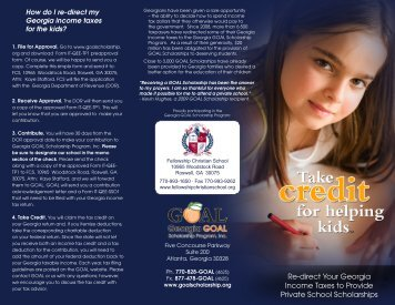 download brochure - Fellowship Christian School