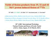 Yields of fission products from proton-induced fission of 232 Th