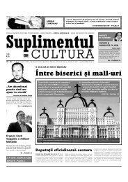 ~ntre biserici [i mall-uri - Suplimentul de Cultura