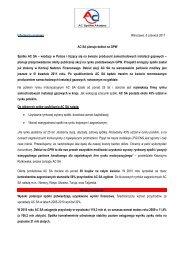 Informacja prasowa Warszawa, 6 czerwca 2011 AC SA ... - STAG