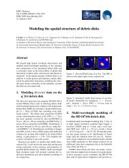 Modeling the spatial structure of debris disks - University of Arizona