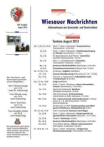 August 2013 - Markt Wiesau