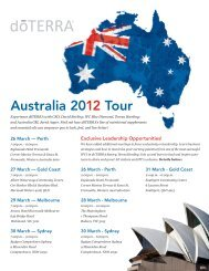 Australia 2012 Tour - dōTERRA - Essential Oils