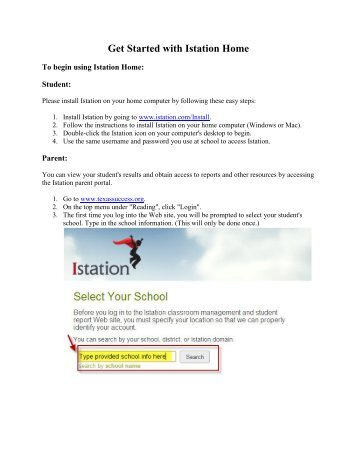 Get Started with Istation Home - Crosby ISD