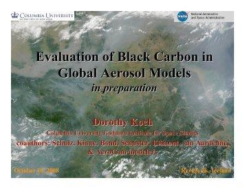 aerosol absorption experiments - AeroCom