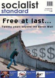 1 Socialist Standard November 2009 - World Socialist Movement