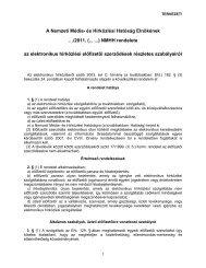 Rendelet-tervezet az elektronikus hírközlési ... - Nemzeti Média