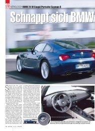 VERGLEICH BMW Z4 M Coupé/Porsche Cayman S