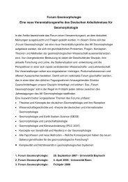 Programm - Deutscher Arbeitskreis für Geomorphologie
