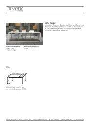Technische Merkmale Tische - Presotto