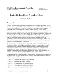 Leadership Transition in Jewish Day Schools - Partnership for ...